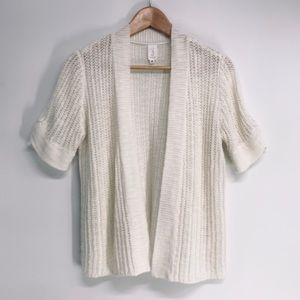 JONES NY Linen Short Sleeve Open Front Cardigan M